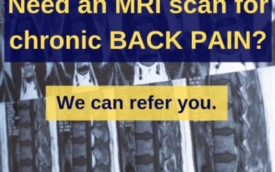 Osteopathy and MRI scan for back pain
